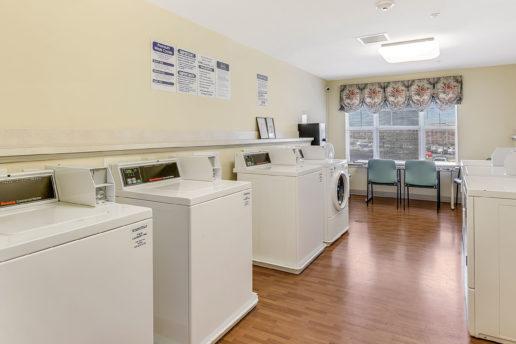 Bright spacious laundry room